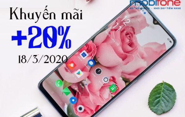 MobiFone khuyến mãi nạp thẻ toàn quốc ngày 18/03/2020