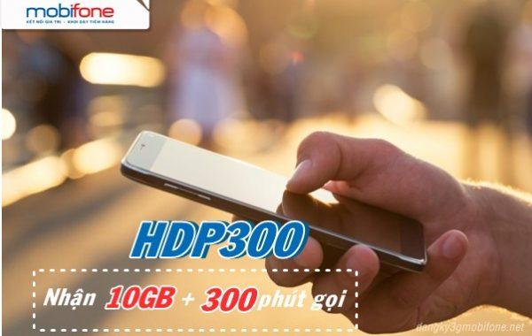 Đăng ký HDP300 Mobifone chỉ 300k có 10GB data cùng 300 phút thoại